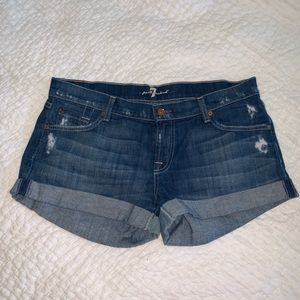 Seven of all mankind shorts